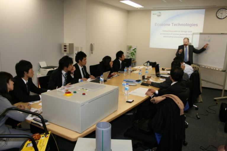 Dr. Amram Fried Head of R&D present in JAPAN